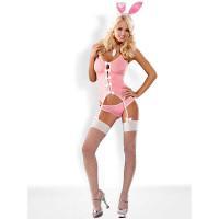 Костюм зайчика Bunny suit, розовый - S/M