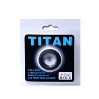 Baile кольцо с ребрышками Titan (BI-210144), черный